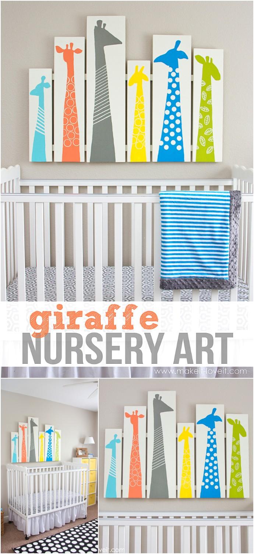 DIY Giraffe Nursery Art Or Any Other Room