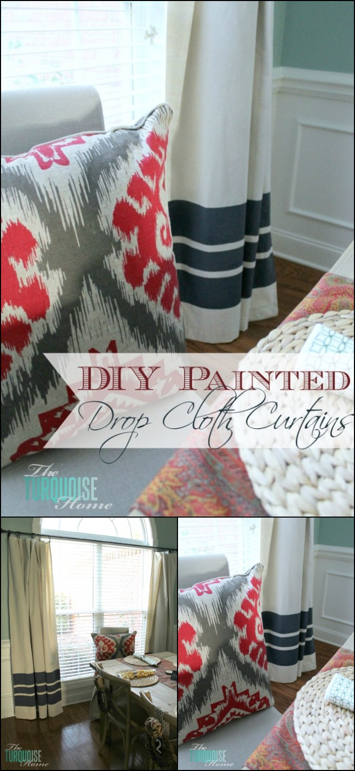 Diy Drop Cloth Curtains
