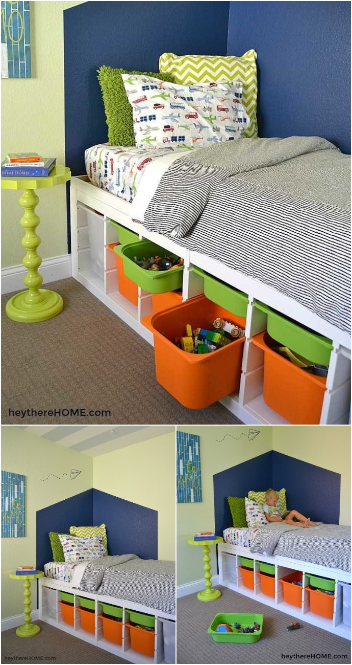 Diy Twin Platform Bed With Storage Ikea Hack
