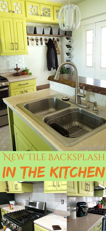 New Tile Backsplash In The Kitchen