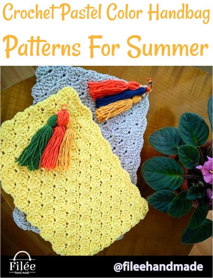 Crochet Pastel Color Handbag Patterns For Summer