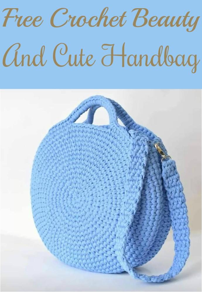 Free Crochet Beauty And Cute Handbag