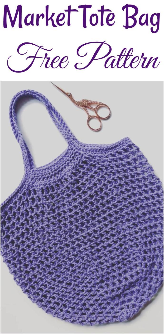 Market Tote Bag Free Pattern