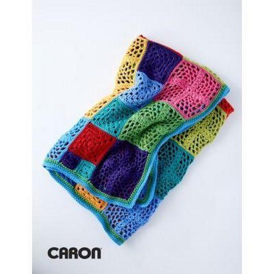 Motif Afghan Free Crochet Pattern
