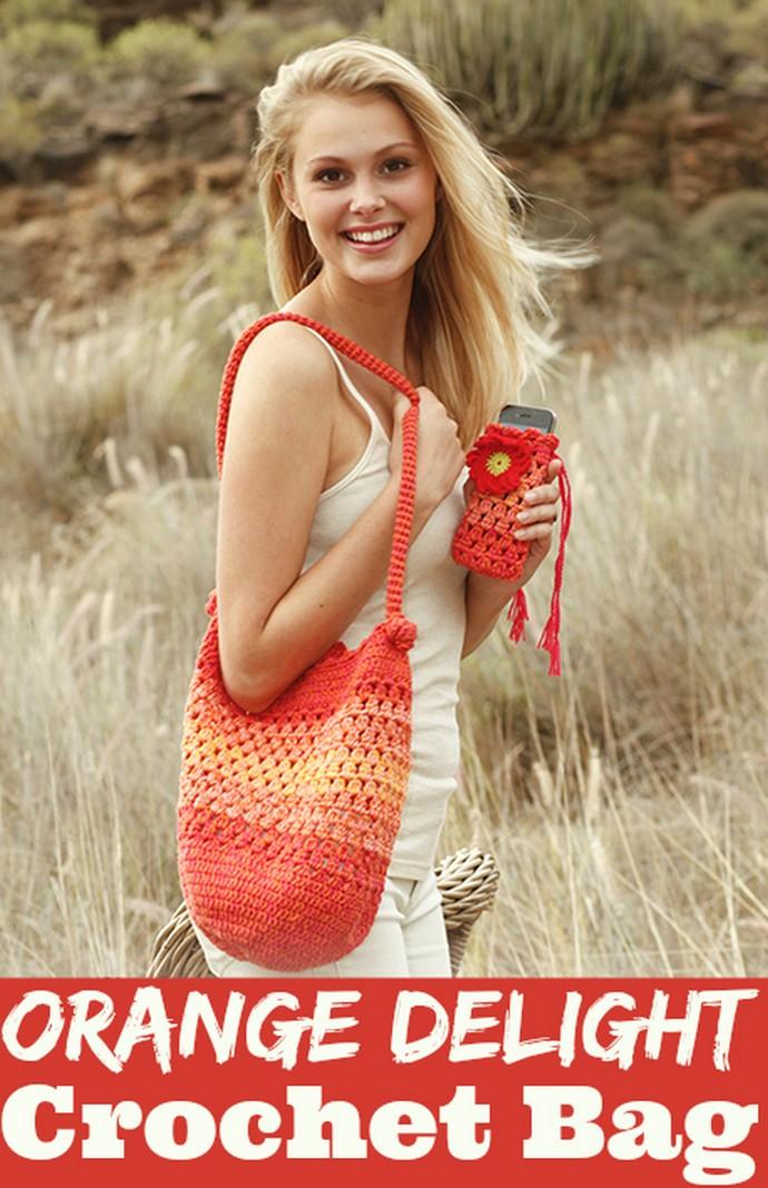 Orange Delight Crochet Bag