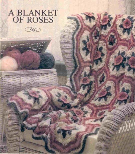 Roses Afghan Free Crochet Pattern