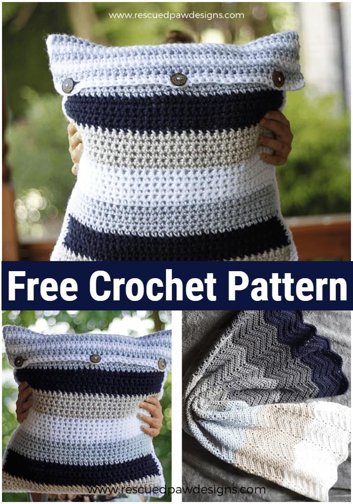 Simple Striped CrochetPillow Pattern