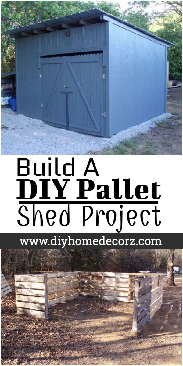 Build A DIY Pallet Shed Project