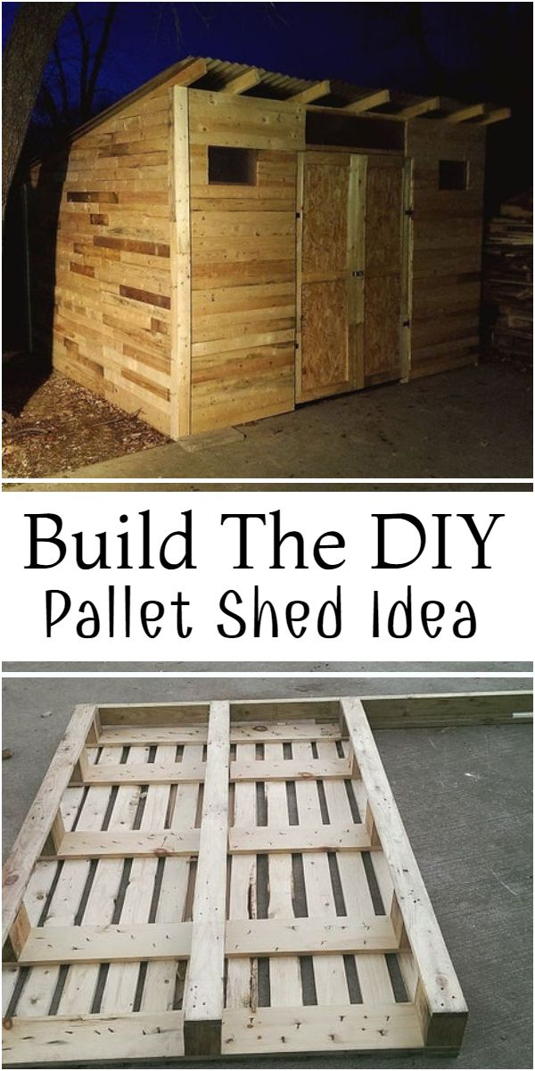Build The DIY Pallet Shed Idea