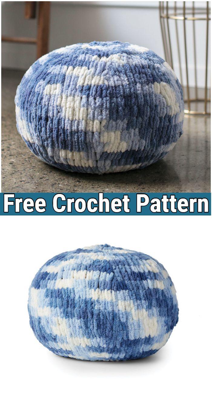 Caron Crochet Alize Ez Pouf