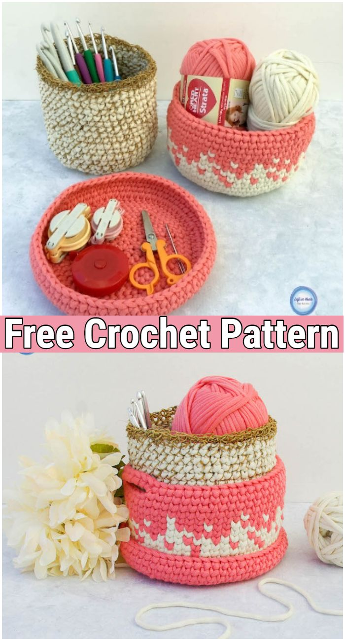 Crochet Desktop Stacker Basket