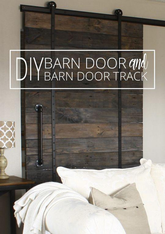 DIY Barn Door and DIY Barn Door Track