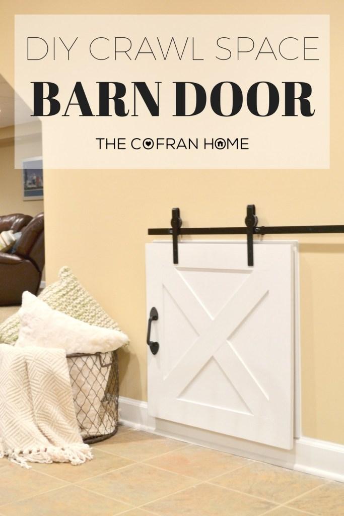 DIY Crawl Space Barn Door