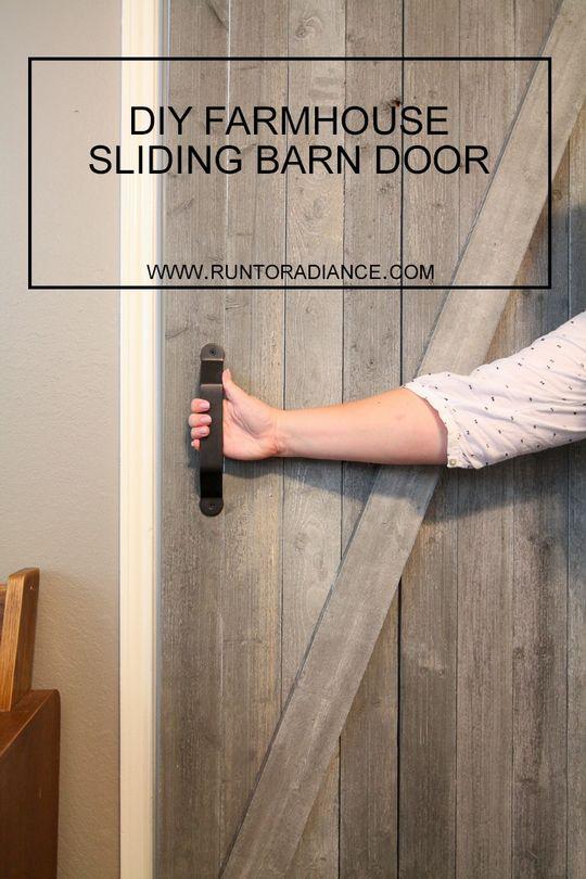 DIY Farmhouse Sliding Barn Door