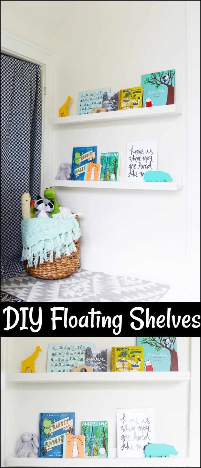 easy  Bookshelves idea for kid's room