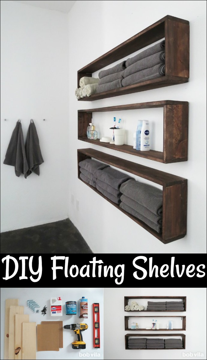 Double Bathroom Storage With Easy Build Box Shelves