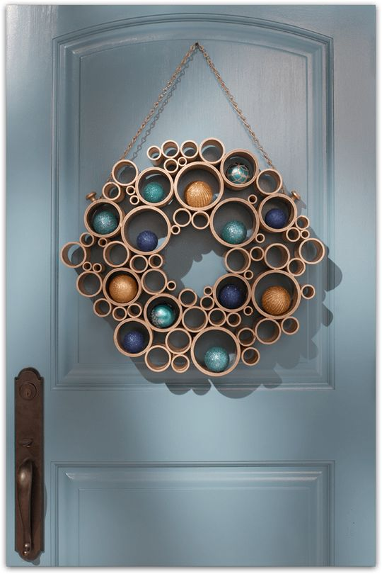 Festive Holiday Wreath With Pvc Pipes