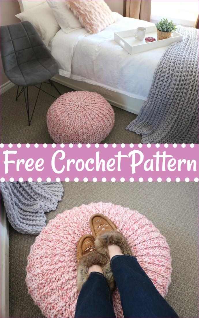 Free Crochet Floor Pouf