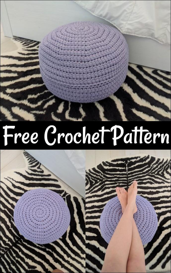 Free Crochet Foolproof Floor Pouf