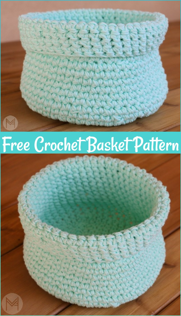 How To Make An Easy Crochet Basket