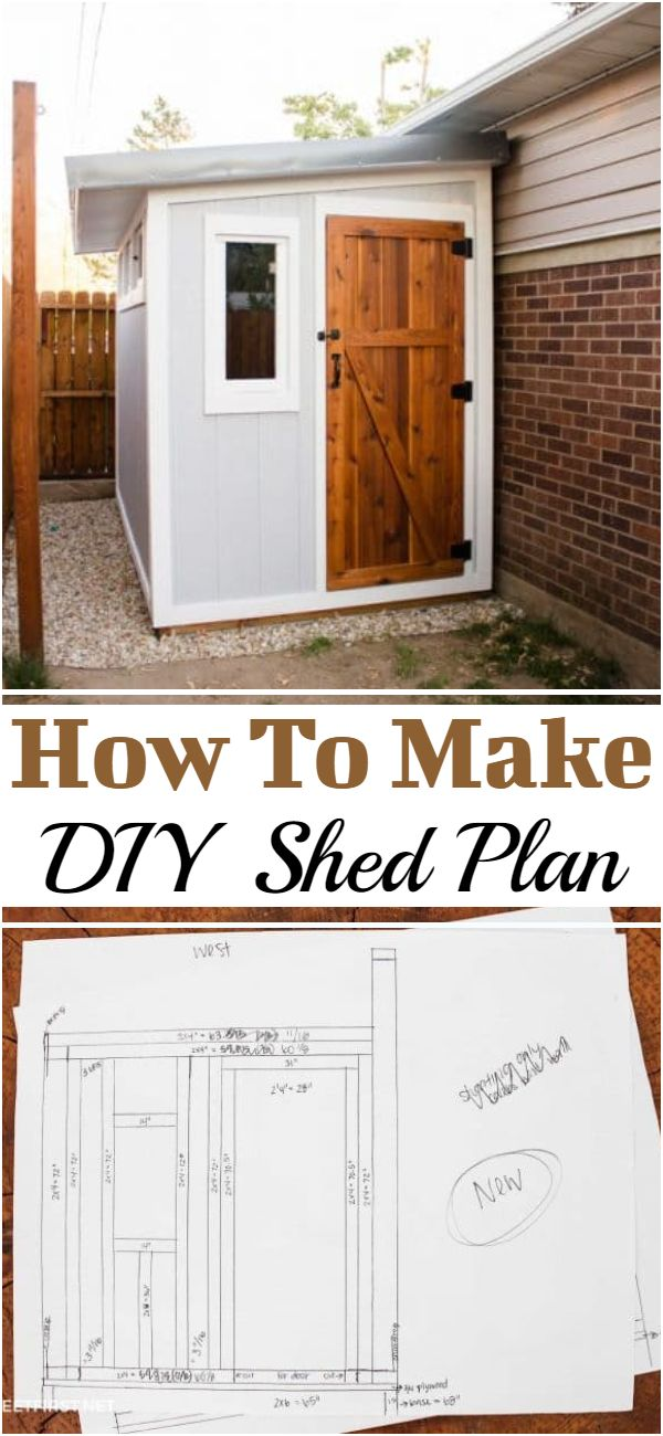 How To Make DIY Shed Plan