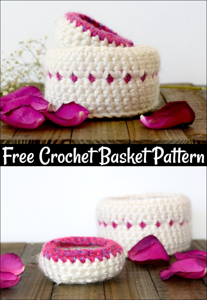 Jewelry Catchers Crochet Baskets Pattern