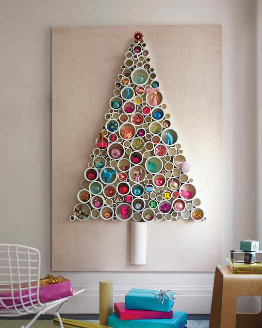Pvc Pipe Tree As Wall Art