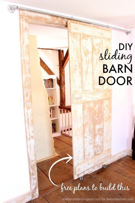 Antique-Style Sliding Barn Door