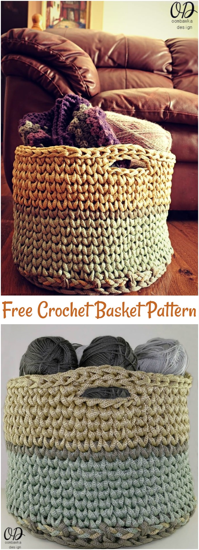 Your Giant Yarn Basket Free Crochet Pattern