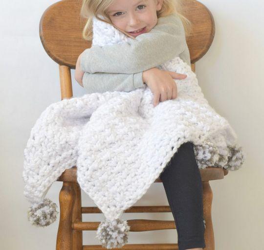 Crochet Pom Baby Blanket