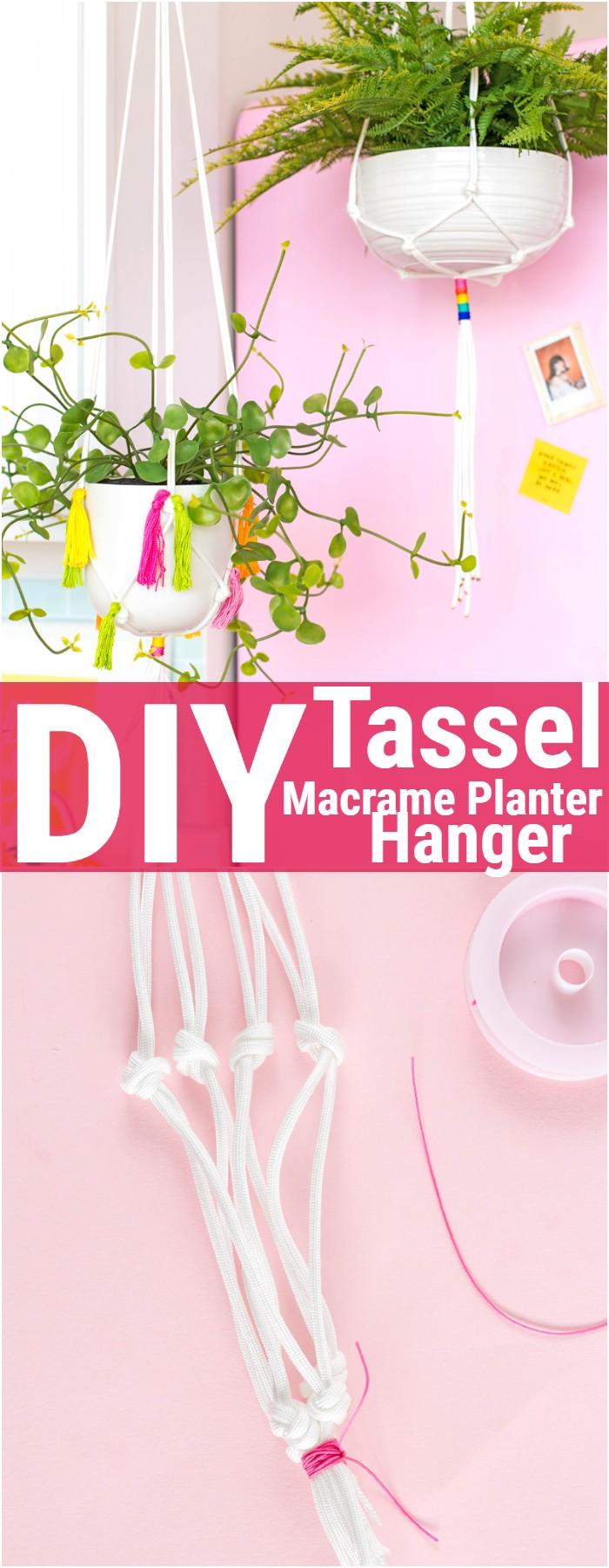 DIY Tassel Macrame Planter Hanger