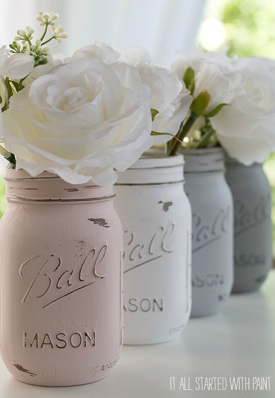 Painted Mason Jars