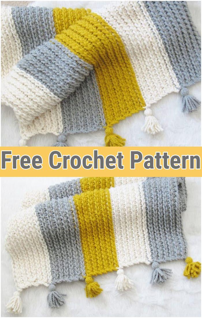 Chunky Afghan Free Crochet Pattern