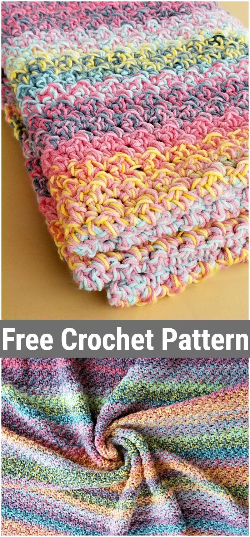Color Kaleidoscope Crochet Blanket Pattern