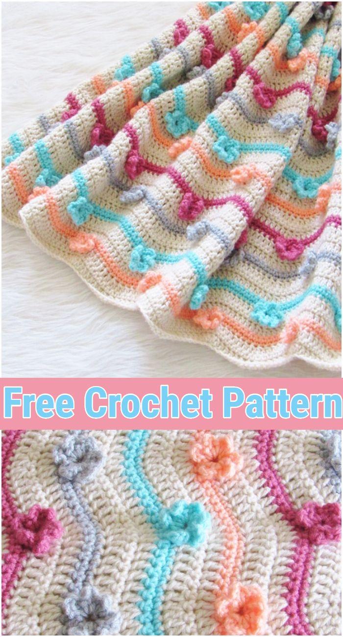 Crochet Afghan Free Pattern, 3D Flower Afghan