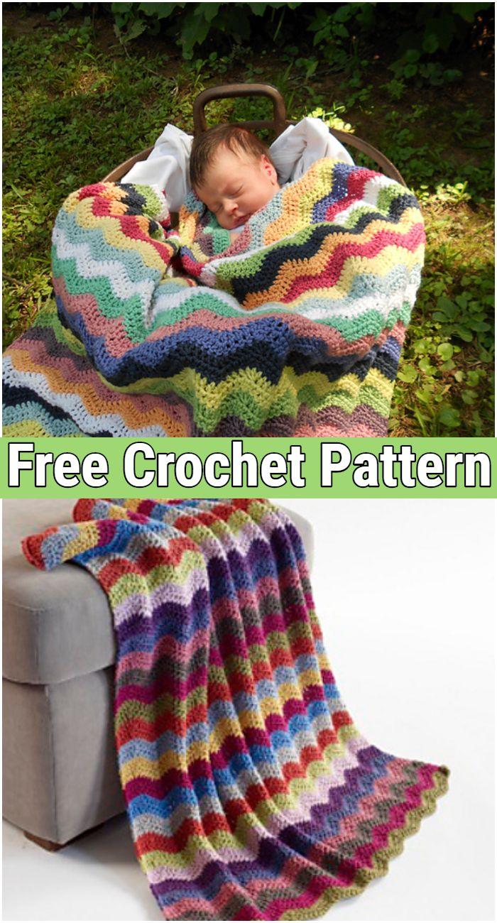 Crochet Blanket Baby Ripple Afghan