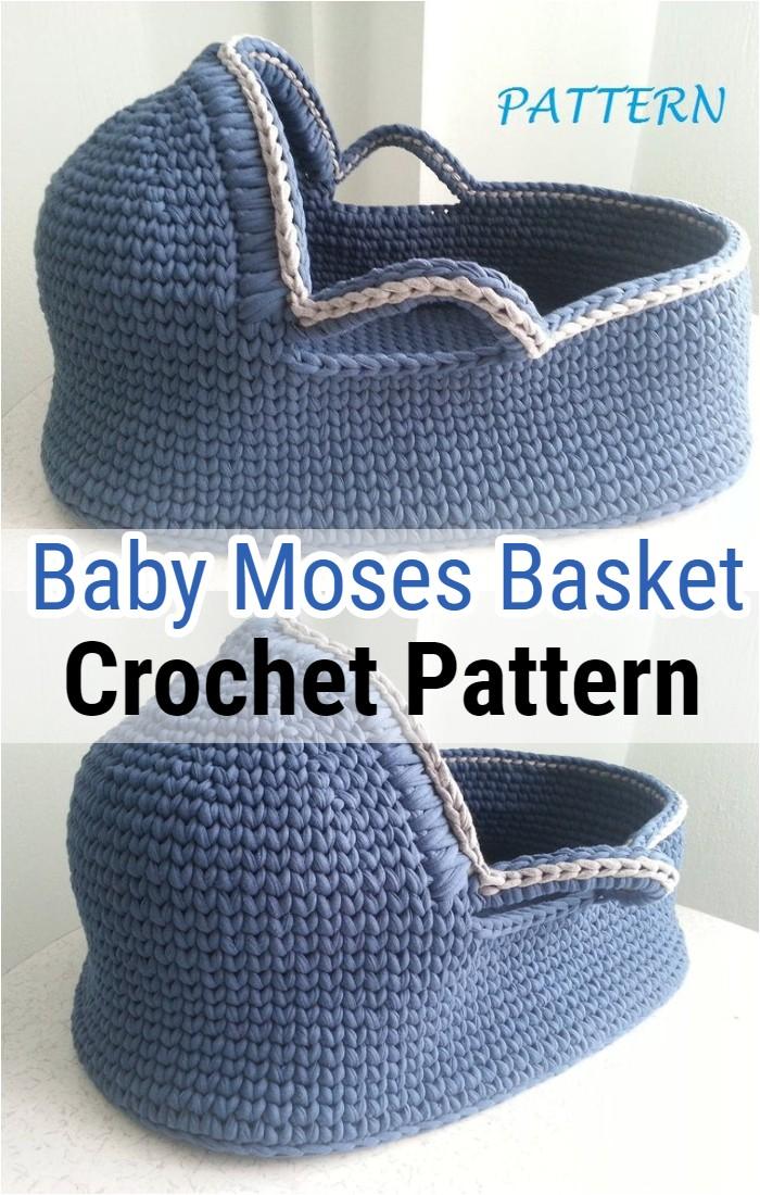 Crochet Pattern Baby Moses Basket