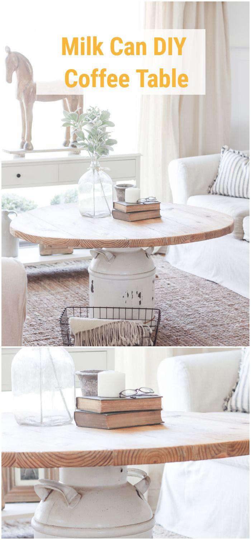 Milk Can DIY Coffee Table