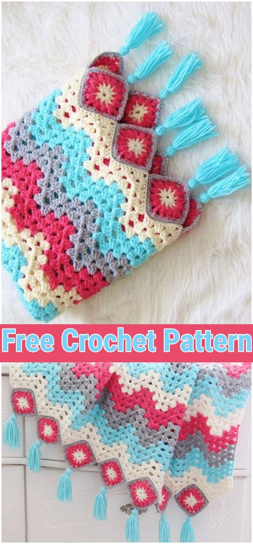 Ripple Afghan, Free Crochet Pattern