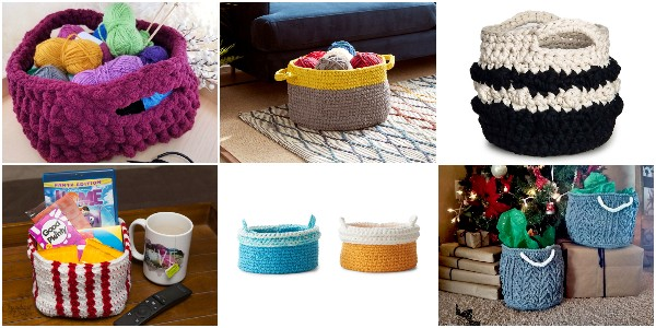 Crochet Basket Patterns To Organize Your Home