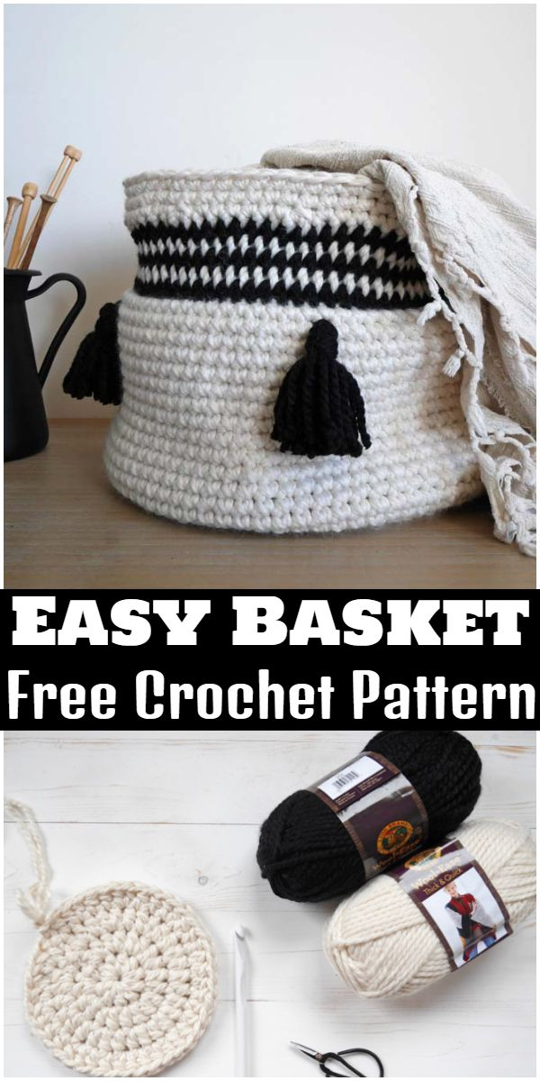 Free Crochet Easy Basket Pattern