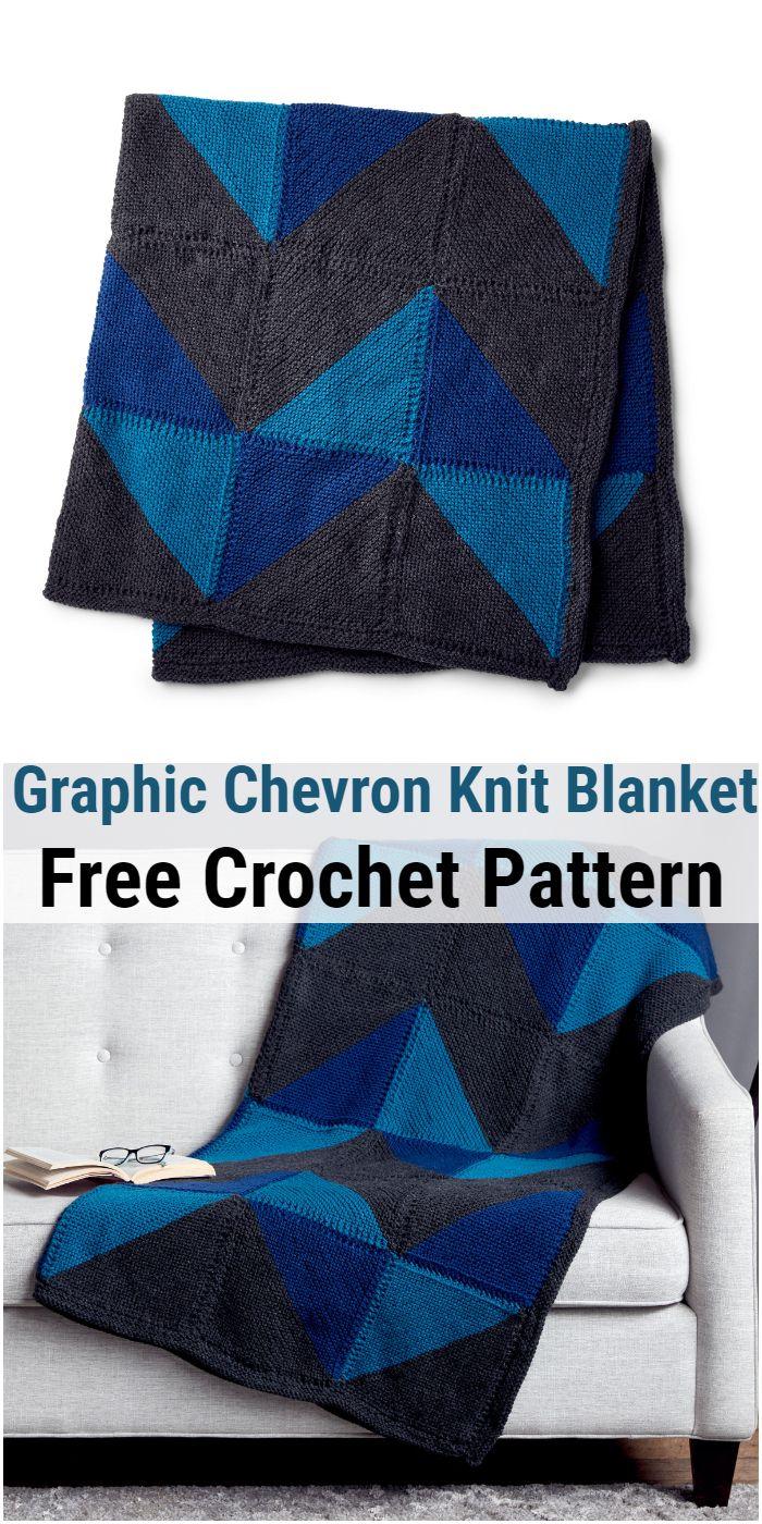Graphic Chevron Knit Blanket