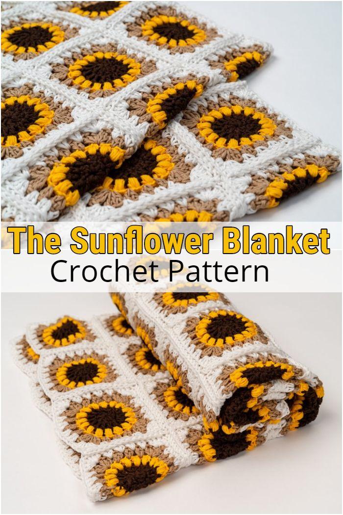 The Sunflower Blanket Crochet Pattern
