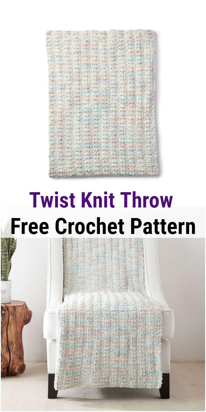 Twist Knit Throw