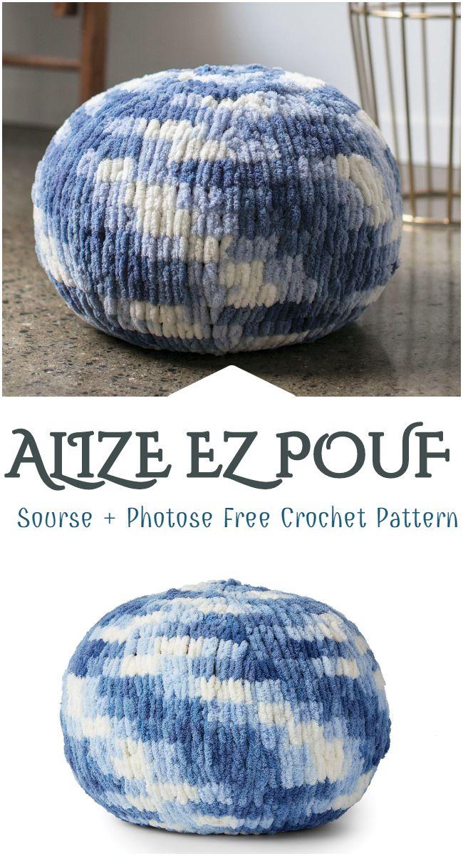 Alize Ez Pouf Free Crochet Pattern