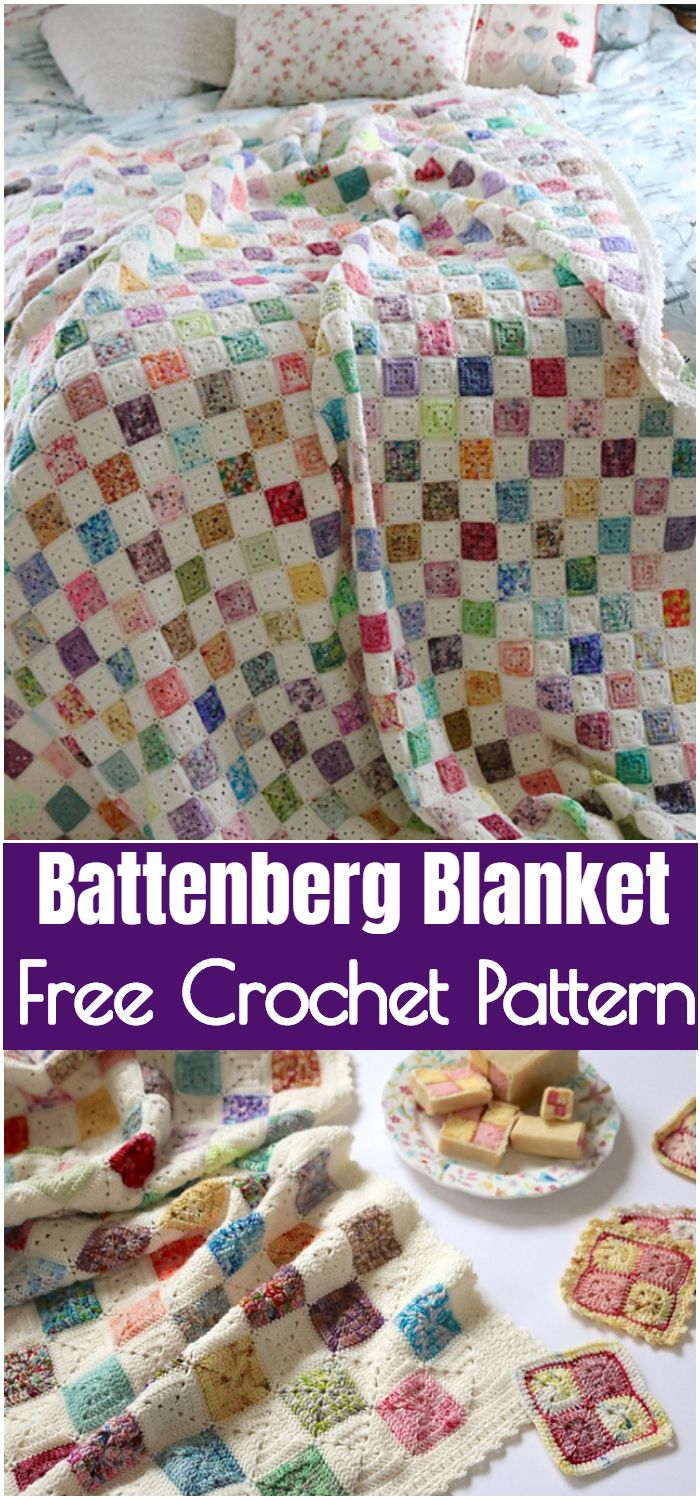 Battenberg Crochet Blanket