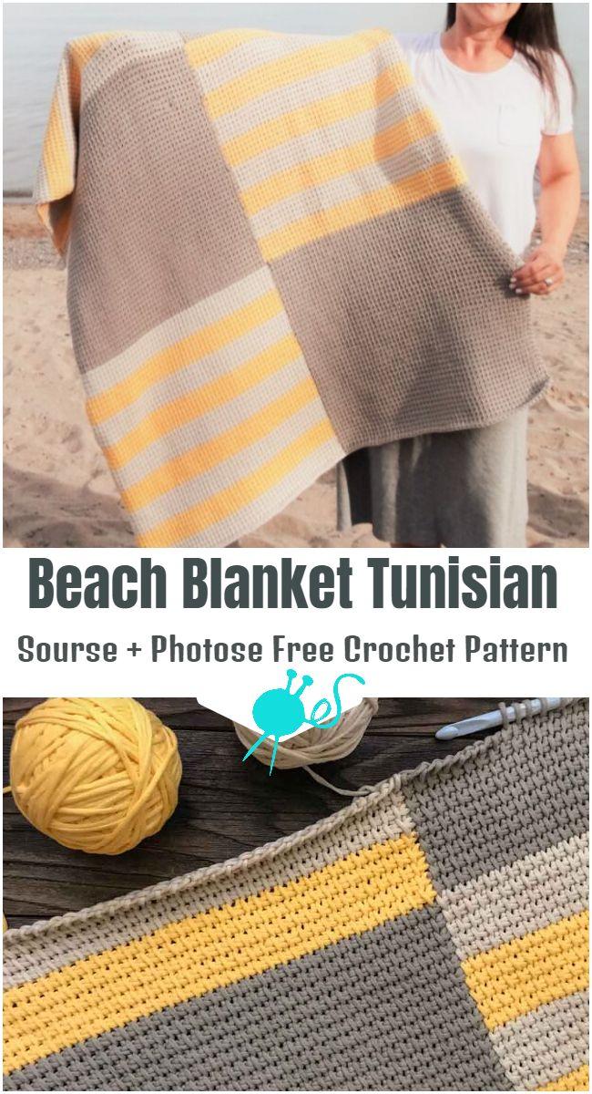 Beach Blanket Tunisian