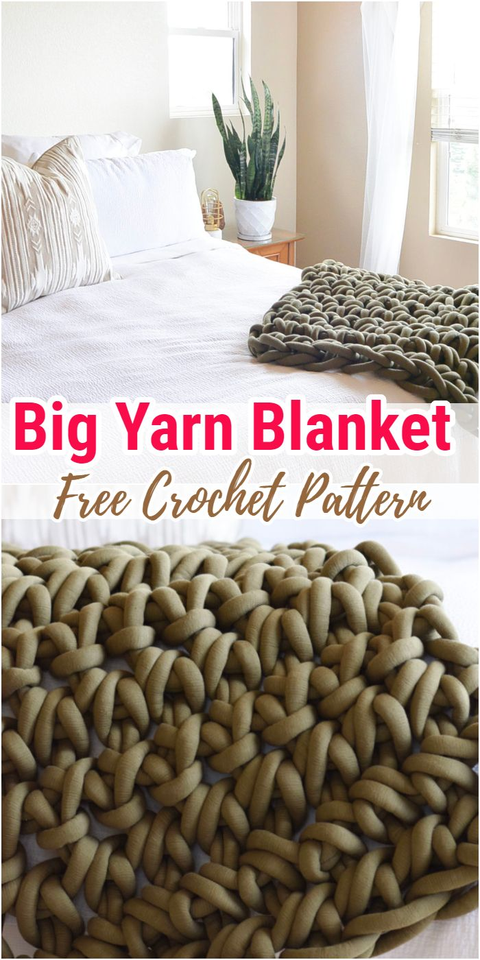 Big Yarn Blanket Crochet Blanket Free Pattrn
