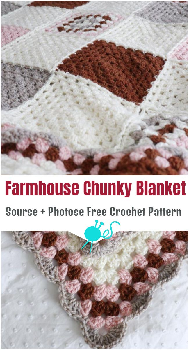 Crochet Farmhouse Chunky Blanket