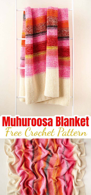 Muhuroosa Blanket Free Knitting Pattern